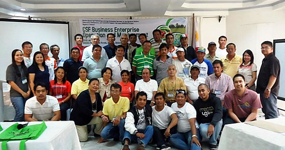 The participants of the Training on Common Service Facility Business Enterprise Operation and Management held on 29–30 January 2014 at the Malolos Resort Club Royale, Malolos, Bulacan.