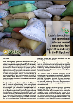 Legislative actions and operational reforms toward a smuggling-free agriculture industry in the Philippines