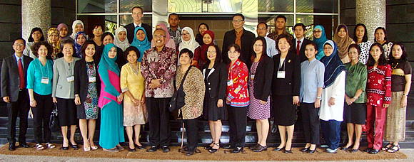 Organizers, resource persons, and participants in ASEAN 2015: Strengthening the Regional Food Safety System pose for posterity at SEAMEO BIOTROP, Bogor, Indonesia.