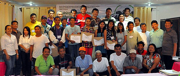 The participants of the Training on Integrated Production Management System, Rice Production Part held on 27–28 February 2014 at the Malolos Resort Club Royale, Malolos, Bulacan.