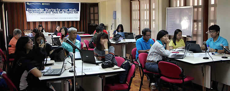 The training participants composed of DA-BAR Technical Staff, Regional Information Officers from DA Regional Field Units, and Information Officers from DA Bureaus and Attached Agencies during the training on Knowledge Sharing for Your Work: Techniques and Tools for Project KM.