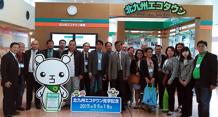 The Philippine delegation visits Ecotown Center in Kitakyushu City, Japan.
