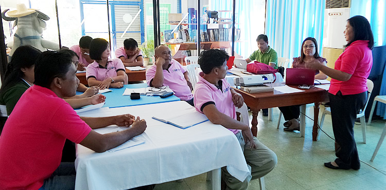 Staff of the PCC at MMSU during the KM audit on 26 October 2015 in Laoag, Ilocos Norte.