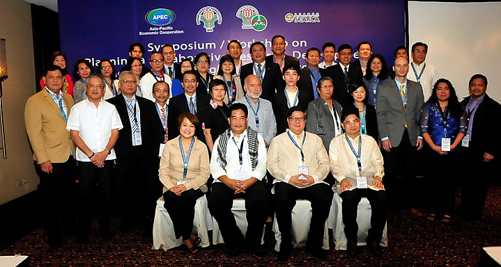 Resource persons and participants of different APEC member economies, international organizations and from the Philippine Department of Agriculture.
