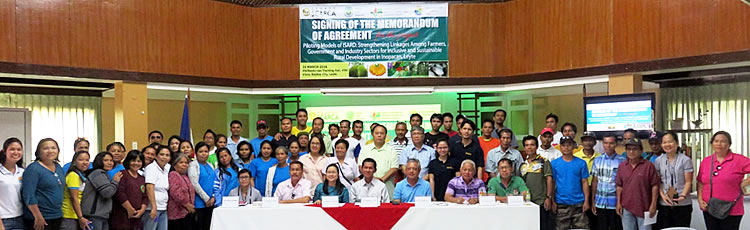 ISARD Leyte Stakeholders mark the start of the project.