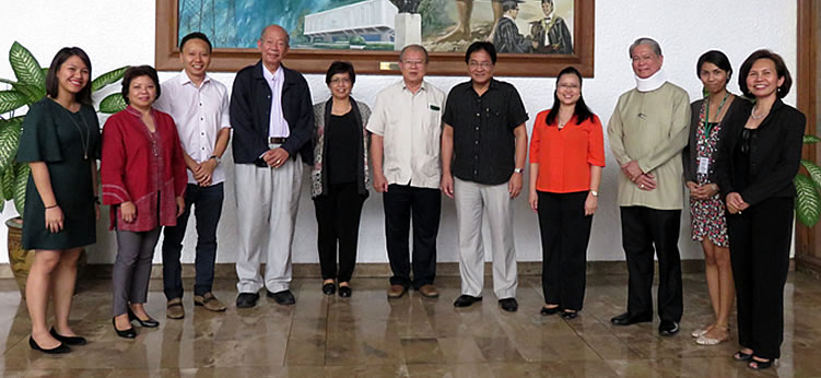 From left to right: Ms. Millicent Joyce Q. Pangilinan, Dr. Doris Capistrano, Dr. Tey (John) Yeong-Sheng, Dr. Larry Wong, Dr. Lourdes S. Adriano, Dr. Vo Tong Xuan, Dr. Cielito F. Habito, Dr. Bessie M. Burgos, Dr. William G. Padolina, Ms. Maria Katrina R. Punto and Ms. Carmen Nyrhia G. Rogel