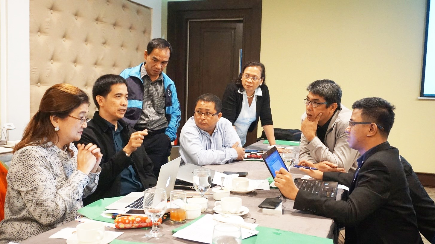 Photo above shows participants discussing PCC's institutional response to the opportunities for and threats to PCC in terms of policy formulation and/or programs and strategic options that can be implemented to address the challenges and issues confronting the Center.