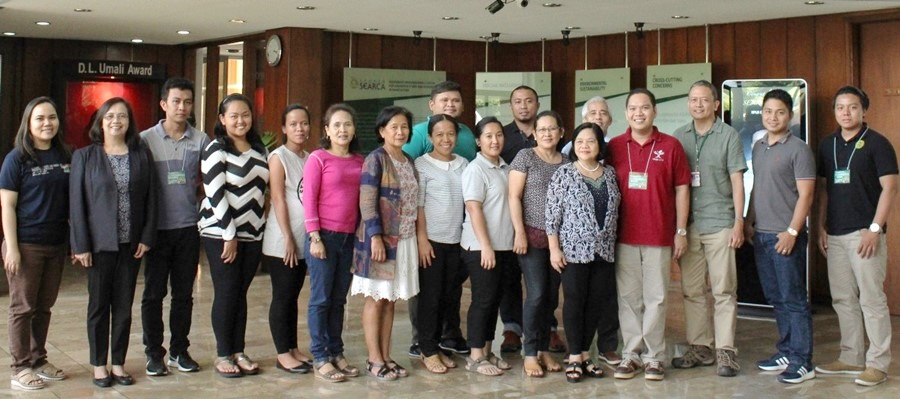 The participants of the training with the Financial Viability Project consultants, and SEARCA PDTS representatives.