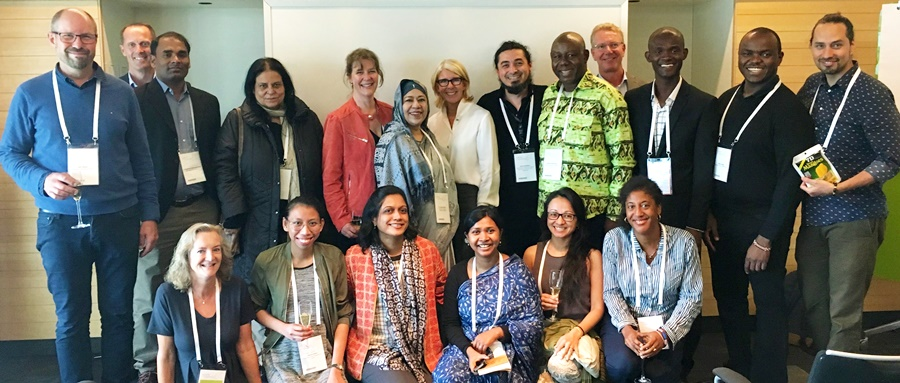 Clarissa Ruzol (first row, second from left) together with the Svenska Institutet, the Beijer Institute of Ecological Economics, the Stockholm Resilience Centre, and funded participants at a reception in the Resilience 2017 Conference, Stockholm.