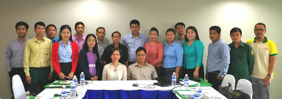 Participants to the pilot testing of the Project Development Toolkit and validation of Gap Analysis in Lao PDR