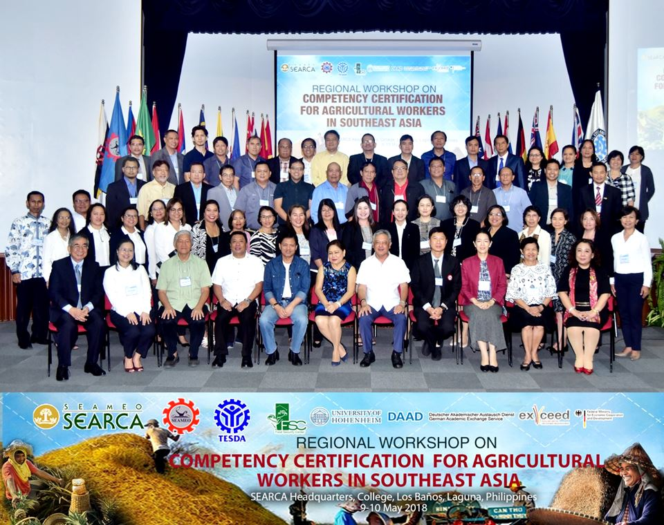 SEARCA-TESDA workshop champions skills recognition and competency certification of agricultural workers