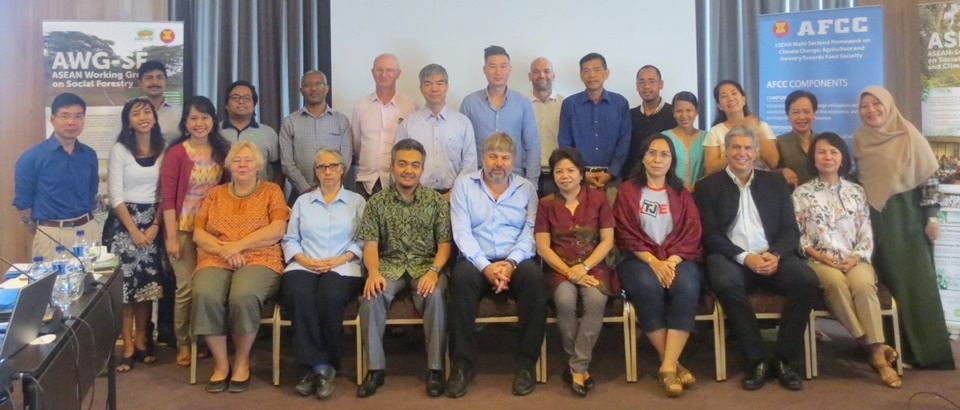 SEARCA, ASEAN Secretariat, AWG-SF Secretariat, SDC, and Partners during the ASFCC Planning Meeting in Bogor, Indonesia