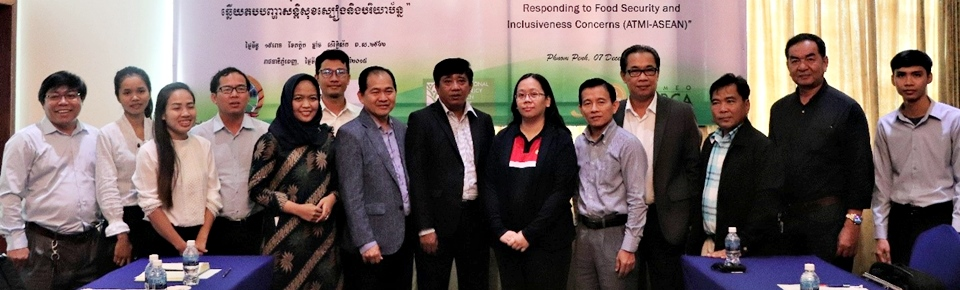 NPSC members and observers from ATMI-ASEAN Project partners, IFPRI and SEARCA, pose for a group photo.