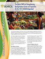 The Role of MFIs in Strengthening the Agriculture Sector in Preparation for the 2015 ASEAN Integration