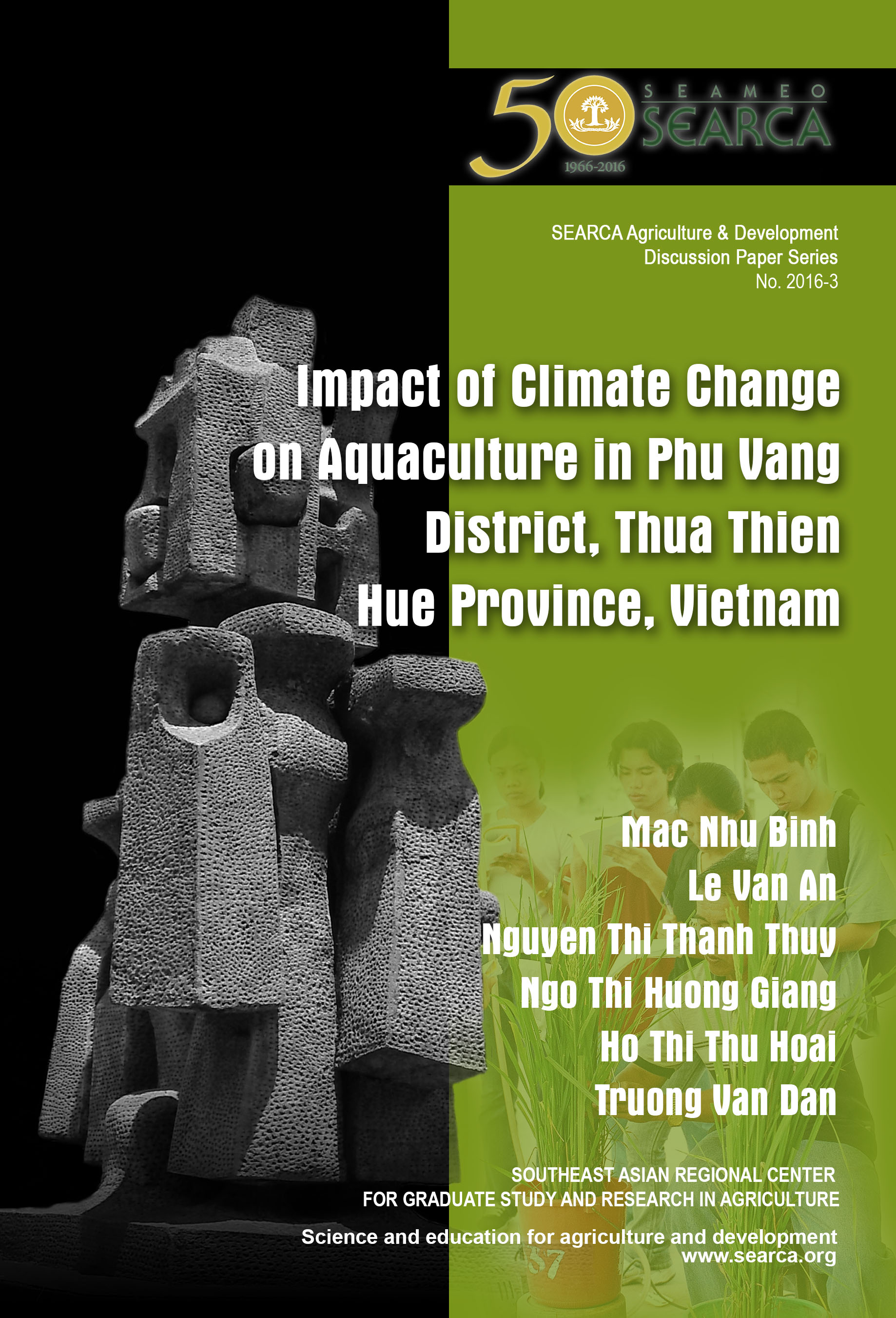Impact of Climate Change on Aquaculture in Phu Vang District, Thua Thien Hue Province, Vietnam