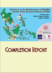Workshop on the Establishment of SEAMEO Centres Policy Research Network (CPRN)