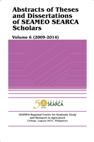 Abstracts of Theses and Dissertations of SEAMEO SEARCA Scholars Volume 6 (2009-2014)