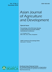 Asian Journal of Agriculture and Development Vol. 12 No. 3