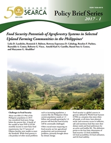 Food Security Potentials of Agroforestry Systems in Selected Upland Farming Communities in the Philippines