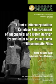 Effect of Microcrystalline Cellulose Reinforcement on Mechanical and Water Barrier Properties of Sugar Palm Starch Biocomposite Films