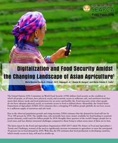 Digitalization & Food Security Amidst the Changing Landscape of Asian Agriculture