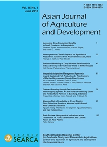 Asian Journal of Agriculture and Development Vol. 15 No. 1