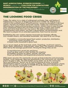 COVID-19 Advisory No. 1: LOOMING FOOD CRISIS