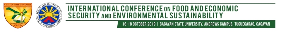 International Conference on Food and Economic Security and Environmental Sustainability; 16-18 October 2019