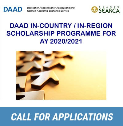 Call for Applications: DAAD In-Country/In-Region Scholarship Programme for AY 2020/2021