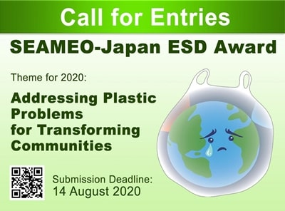 2020 SEAMEO-Japan Education for Sustainable Development (ESD) Award
