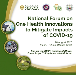 National Forum on One Health Innovations to Mitigate Impacts of COVID-19 - 26 August 2020