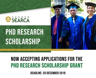 PhD Research Scholarship - deadline of submission of applications is on 20 December 2019