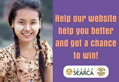Help the SEARCA website help you better and get a chance to win!