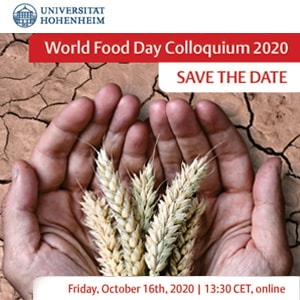 World Food Day Colloquium 2020 - 16 October 2020