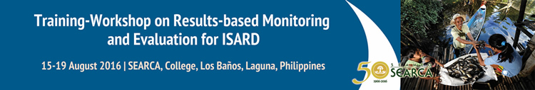 training workshop on results based monitoring and evaluation for isard