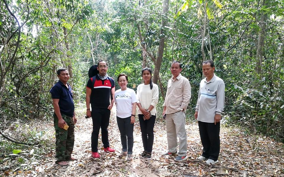 SEARCA-ASRF and ASRF-Cambodia project team with Mr. Long Ratanakoma, AWG-SF Focal Point and Deputy Director of the Department of Forest and Community Forestry, FA, MAFF. (second from right)