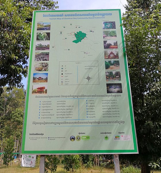 Tourism map of the Changkran Roy Community-based Ecotourism site.