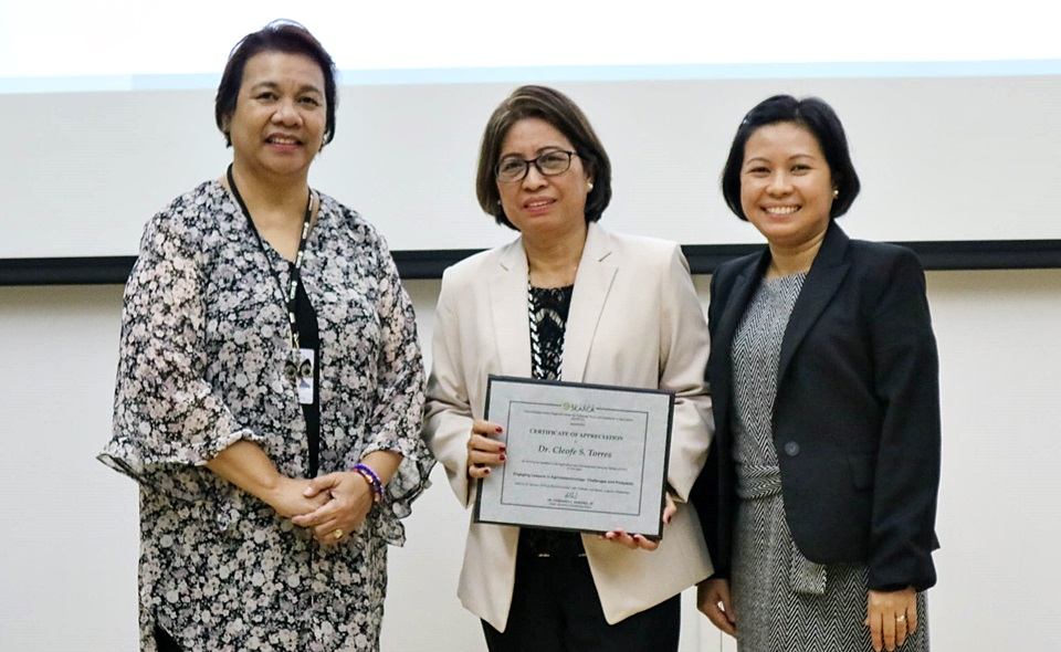 Study on Philippine Lawyers' Perception and Attitude Towards Agri-biotech Presented in SEARCA Seminar Series