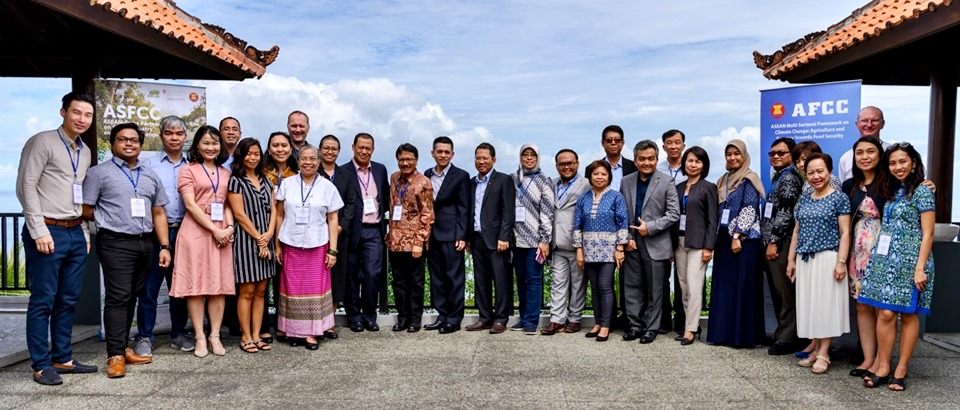 Participants of the 8th Ad-Hoc Steering Committee on Climate Change and Food Security (AHSC CCFS) held in Bali, Indonesia