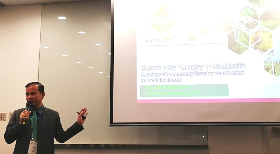 Mr. Long Ratanakoma presenting in Session 4: Thriving forest-based livelihoods through partnerships