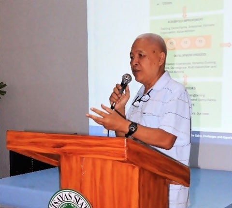 Dr. Jose R. Medina, ISARD Overall Program Coordinator, discussing the workshop overview.