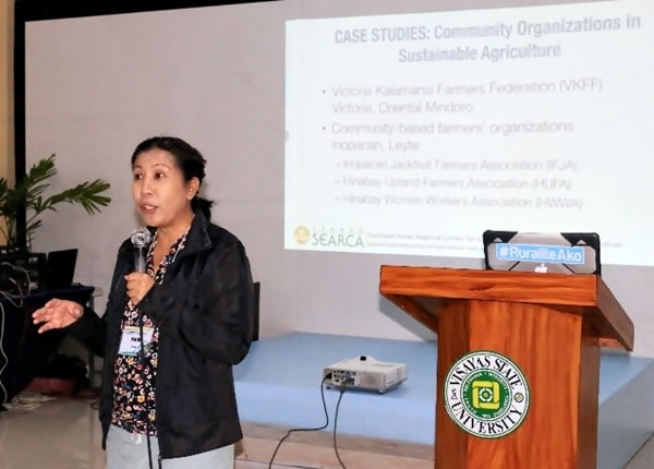 Dr. Pamela A. Custodio presenting the case studies of the ISARD two pilot sites.