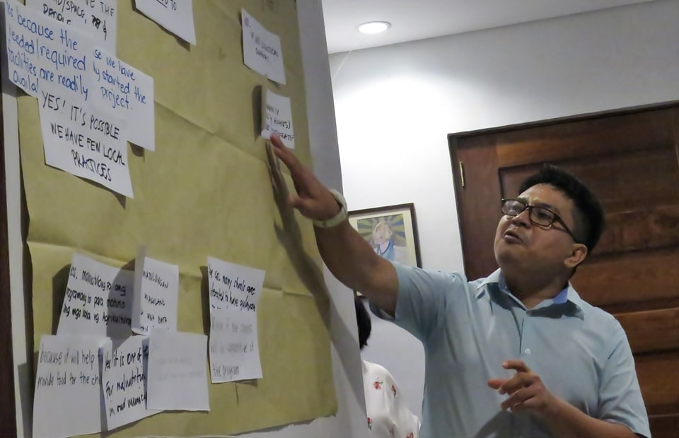 Dr. Pedcris M. Orencio, Program Head for Research and Development, facilitated the Meeting-Workshop