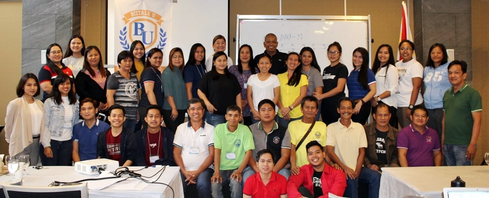 Coopreneurs together with PCC and SEARCA Officials and Staff during the conduct of Business Talk for Clients: Financial Management held on 27 – 30 August 2019 at The Orchid Gardens Hotel, San Fernando City, Pampanga.
