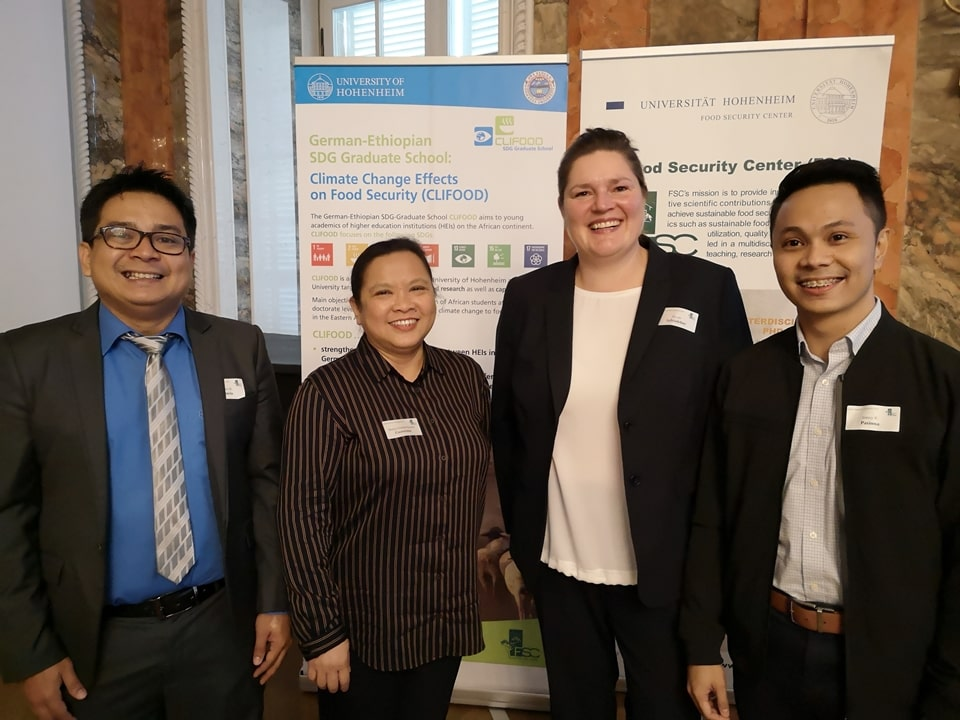 SEARCA delegation with FSC Chief Executive Officer, Dr. Nicole Schönleber, during the 2019 World Food Day Colloquium