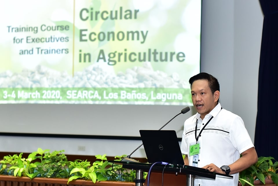 SEARCA Deputy Director for Administration Mr. Joselito G. Florendo emphasizes the significance of circular economy as one of SEARCA's thematic focus