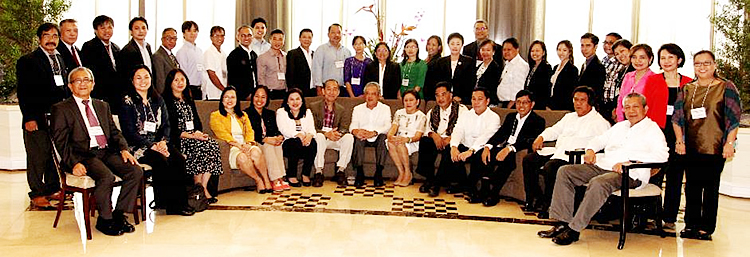 Guests and participants of the Policy Roundtable on Improving the Agricultural Insurance to Enhance Resilience to Climate Change in Southeast Asia held at Ascott Makati, Philippines on 29-30 July 2015.