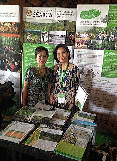 The SEARCA-ASRF Team at the Knowledge Fair of the 6th ASFN Conference at Inle Lake in Myanmar