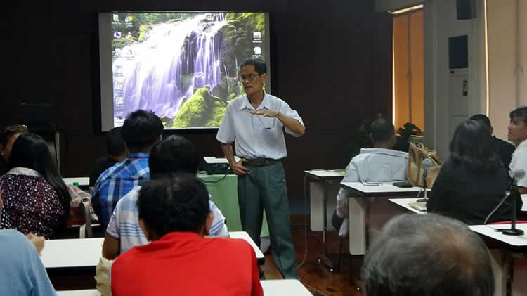 Dr. Arsenio Calub, Project Leader, facilitates the Project Review Meeting