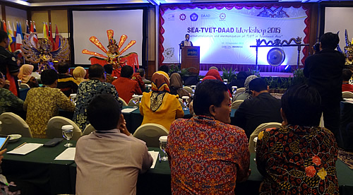 Opening program of the SEA TVET DAAD Workshop on 10 September 2015 in Solo, Indonesia.